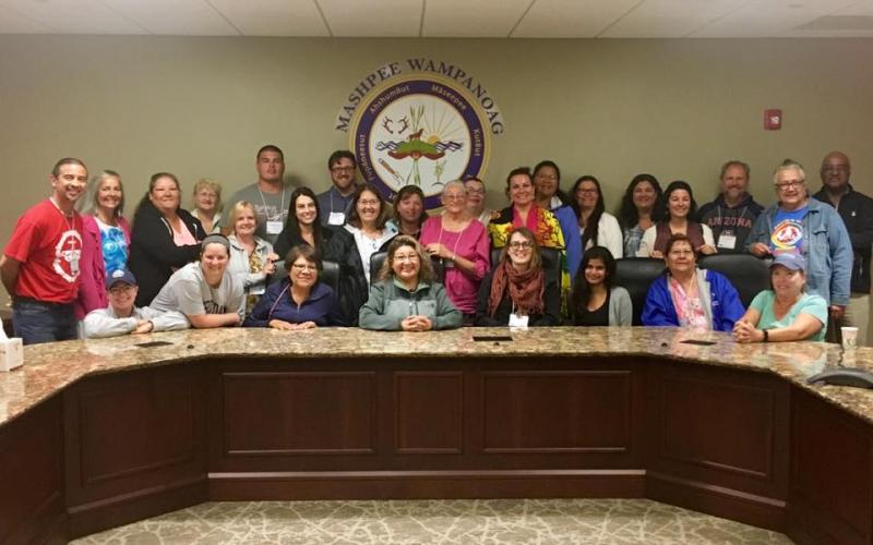 2017 Group at the Mashpee Wampanoag Offices